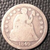 1849   LIBERTY SEATED DIME   NICE COIN