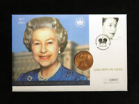 THE QUEEN'S GOLDEN JUBILEE 2002  1966 PENNY  COIN & STAMP CO