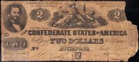 AFFORDABLE BARGAIN 1862 T 42 $2 CSA CONFEDERATE NOTE