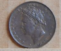 1826 KING GEORGE IV  FARTHING 1/4 D ENGLISH COPPER COIN