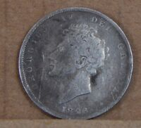 1826 GEORGE IV SHILLING ANTIQUE BRITISH SILVER COIN COIN 3