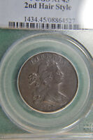 1798 LARGE CENT SHS PCGS XF45   EXCEPTIONAL COIN