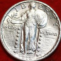 UNCIRCULATED 1918 S SAN FRANCISCO MINT SILVER STANDING LIBER
