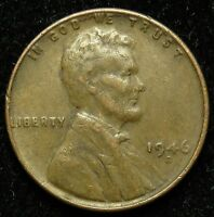 1946 D LINCOLN WHEAT CENT PENNY VF FINE  B02
