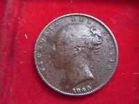 1843 VICTORIAN FARTHING FROM MY COLLECTION [X25]