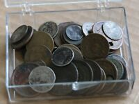 KAPPYSCOINS COLLECTION LOT 50 MIXED 1800'S TYPE COINS SILVER COPPER AND ?