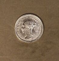 1843 GREAT BRITAIN 1 1/2 PENCE SILVER CLEANED         FREE U.S. SHIPPING