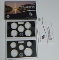 2017 U.S. MINT SILVER PROOF SET REPLACEMENT BOX COA AND COIN HOLDERS  NO COINS