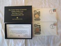 2000 SACAGAWEA P&D GOLDEN $1 DOLLAR COIN FIRST DAY OF ISSUE COMMEMORATIVE W/ COA