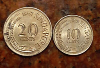 LOT OF  2  SINGAPORE COINS   871