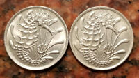 LOT OF  2  SINGAPORE 10 CENT COINS   SEA HORSE DESIGN   2159