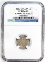 1889 NGC XF DETAILS CANADA 5C NICKEL SURFACE HAIRLINES 99000 R