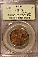 1901 CANADA LARGE CENT PCGS MS 63 RB                FREE U.S. SHIPPING