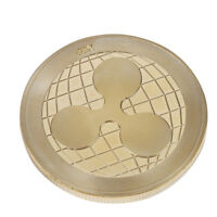 GOLDEN RIPPLE COMMEMORATIVE ROUND COLLECTORS COIN XRP PHYSICAL GOLD PLATED COIN
