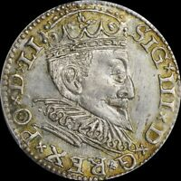FINEST @ NGC & PCGS MS63 SIGISMUND III RIGA POLAND 3GR GROSCHEN UBER TONED TOP
