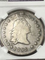 1795 FLOWING HAIR SILVER DOLLAR NGC DETAILS GRAFFITI