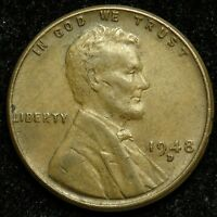 1948 D LINCOLN WHEAT CENT PENNY VF  FINE B01