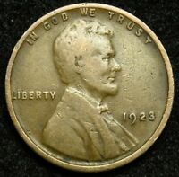 1923 LINCOLN WHEAT CENT PENNY VG  GOOD B04