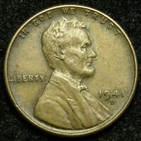 1941 D LINCOLN WHEAT CENT PENNY VF  FINE B05