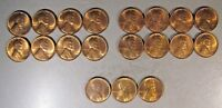 1947D LINCOLN WHEAT CENT LOT OF 19 PIECES, HIGH GRADE   FREE U.S. SHIPPING