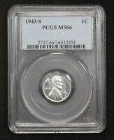 1943-S STEEL WHEAT CENT PCGS MINT STATE 66