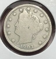 1903 LIBERTY V NICKEL.  COLLECTOR COIN FOR YOUR COLLECTION.1