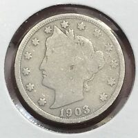 1903 LIBERTY V NICKEL.  COLLECTOR COIN FOR YOUR COLLECTION.2