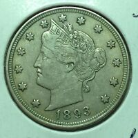 1893  EXTRA FINE -   LIBERTY NICKEL    COIN