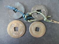 LOT OF 4 ANTIQUE CHINA CHINESE CASH COINS