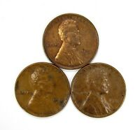 LOT OF 3 1931 P 1C LINCOLN WHEAT CENT PENNIES AU / UNC UNCIRCULATED 118503