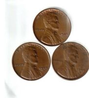 1944 P D S   EXTRA FINE   LINCOLN CENTS   ALL 3 PDS MINTS 1944 YEAR SET  112062