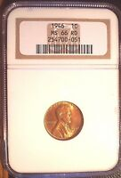 1946 1C LINCOLN CENT, NGC MINT STATE 66 RD SUPERIOR GEM, BETTER DATE, SHARP STRIKE