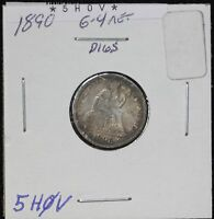 1890 SEATED DIME G