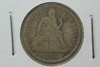 1876 SEATED DIME G