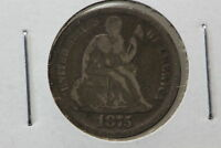 1875 SEATED DIME G