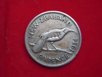 1934 GEORGE 1V SIXPENCE FROM NEW ZEALAND FROM MY COLLECTION [JJ90