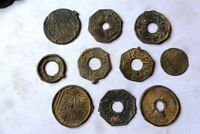 INDONESIA COLONIAL PALEMBANG SULTAN MAHMUD COIN MIX 10X NICE COINS  29