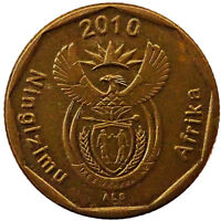 2010 SOUTH AFRICA 20 CENTS COIN ACTUAL PHOTOS SHOWN LOT O4466