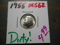 1955 ROOSEVELT DIME   DIRTY   2587