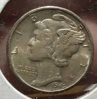 1945 D MERCURY SILVER DIME MICRO.COLLECTOR COIN FOR YOUR SET OR COLLECTION.1