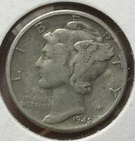 1945 MERCURY SILVER DIME MICRO.COLLECTOR COIN FOR YOUR SET OR COLLECTION. 7