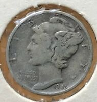 1945 MERCURY SILVER DIME MICRO.COLLECTOR COIN FOR YOUR SET OR COLLECTION. 11