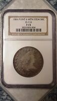 1806 DRAPED BUST HALF DOLLAR POINT 6 WITH STEM - NGC F15 3031955-004