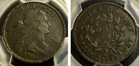 1797 LARGE CENT STEMS CRACK AT THROAT PCGS VF DETAILS S-126