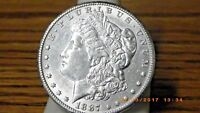 1887-S MORGAN SILVER DOLLAR, LUSTROUS BETTER DATE GREAT DETAILS  SHINE
