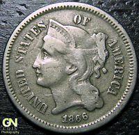 1866 3 CENT NICKEL PIECE  --  MAKE US AN OFFER  Y9012