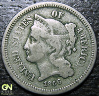 1866 3 CENT NICKEL PIECE  --  MAKE US AN OFFER  Y9011