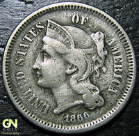 1866 3 CENT NICKEL PIECE  --  MAKE US AN OFFER  Y9008