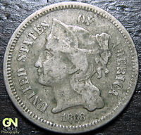 1868 3 CENT NICKEL PIECE  --  MAKE US AN OFFER  Y9029