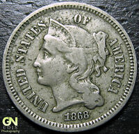 1868 3 CENT NICKEL PIECE  --  MAKE US AN OFFER  Y9030